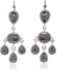 Nina Runsdorf Black Diamond Girandole Earrings