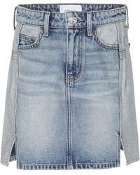 Current/Elliott - Reversed Mashed Denim Mini Skirt - Lyst