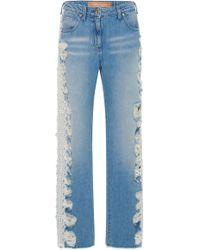Blumarine - Lace Trim Skinny Jeans - Lyst