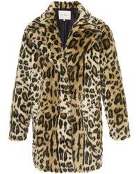 FRAME Cheetah Faux Fur Coat - Multicolor