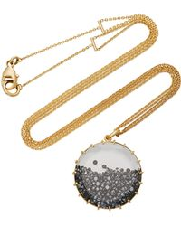 Renee Lewis   18k Gold Black Diamond Shake Necklace   Lyst