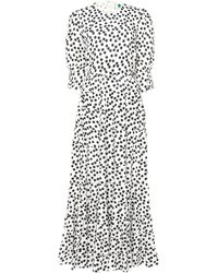 RIXO London Agyness Polka-dot Cotton Maxi Dress - Multicolour