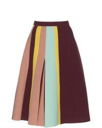 Delpozo - Flared Pleated Skirt - Lyst