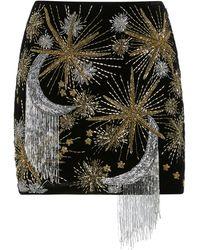 retroféte Ginger Embellished Velvet Mini Skirt - Black