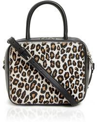 Michino Paris - Leopard Squarit Pm Crossbody Bag - Lyst
