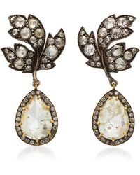 Sylva & Cie - 18k Gold, Sterling Silver And Diamond Earrings - Lyst