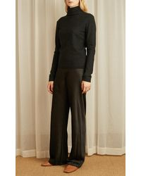 Vince Boiled Cashmere Turtleneck Sweater - Gray