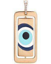 Diane Kordas - Evil Eye Id Tag With White Diamonds - Lyst