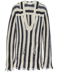 Tory Burch - Striped Baja Pullover - Lyst