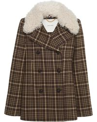Adam Lippes Double-breasted Plaid Jacket - Brown