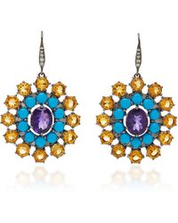 Holly Dyment - M'o Exclusive: Georgian Disc Earrings - Lyst