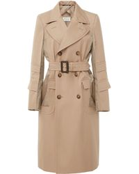 Maison Margiela Double-breasted Cotton-gabardine Trench Coat - Natural