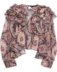 Isabel Marant | Xuster Tahatai Paisley-print Cotton Blouse | Lyst