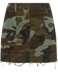 Nili Lotan - Ilona Camouflage-print Stretch-cotton Mini Skirt - Lyst
