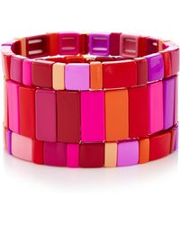 Roxanne Assoulin - Set-of-three Extremely Pink Bracelets - Lyst