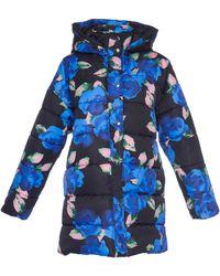 MSGM - Floral Puffer Coat - Lyst