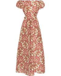 Sir. The Label Valetta Silk Taffeta Maxi Dress - Multicolour