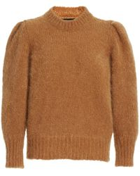 Isabel Marant Emma Mohair Knit Sweater - Brown