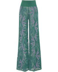 Pepa Pombo - Edna Printed Wide-leg Trousers - Lyst
