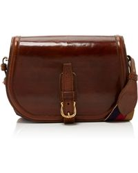 Saddlers Union | Leather Buckled Crossbody | Lyst