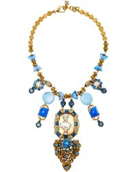 Lulu Frost One-of-a-kind Vintage 150 Year Necklace #2 - Blue