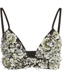 Ellery - Fjord Embroidered Cotton Bra - Lyst