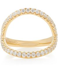 Anita Ko Arc 18k Gold Diamond Ring - Metallic