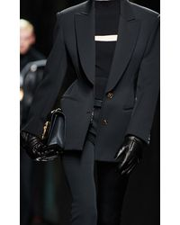 Versace Leather Padded Gloves - Black