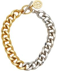 Ben-Amun Two-tone Gold-plate Metal Chain Necklace - Metallic