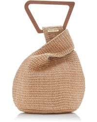 Cult Gaia Astrea Mini Raffia Top Handle Bag - Multicolour