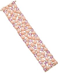 Sutra - Pink Opal And Pink Sapphire Mosaic Bracelet - Lyst