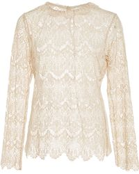 Tryb212 | Ivory Lace Michelle Top | Lyst