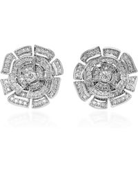 Hueb - Labyrinth 18k White Gold Diamond Stud Earrings - Lyst