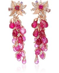 Anabela Chan - Exclusive: Ruby Coralbell Earrings - Lyst