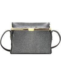 VBH - Audrey Stingray Highlighted Black Cross Body Bag - Lyst
