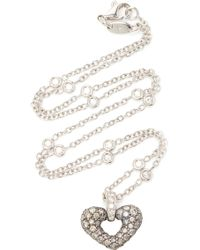 Gioia 18k White Gold, Platinum, Silver And Diamond Necklace - Gray