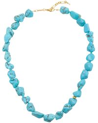 Anni Lu Beach Cocktail Turquoise 18k Gold-plated Necklace - Blue