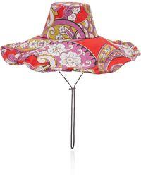 Etro - Floral-print Cotton Hat - Lyst