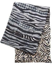Pierre Louis Mascia Sciarpa Doppiata Silk-blend Scarf - Black