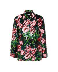 Richard Quinn Black Floral Embellished Jacket - Pink