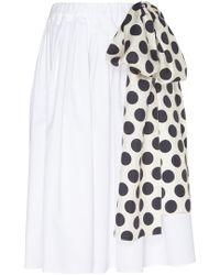 Dice Kayek - Wide Cotton Blend Skirt - Lyst