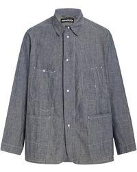 Monitaly Western Denim Coverall Shirt - Blue