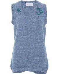 Luisa Beccaria Sweater Vest - Blue