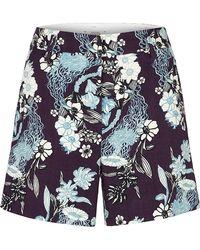 Dorothee Schumacher - Purple Galaxy Bloom Shorts - Lyst