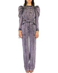 Ulla Johnson Albie Acid-wash High-rise Straight-leg Jeans - Purple