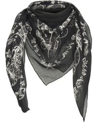 Alexander McQueen - Printed Modal And Silk-blend Scarf - Lyst