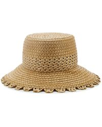 Eric Javits Squishee Mita Woven Hat - Natural