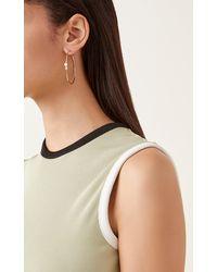 Carbon & Hyde 18k Gold And Diamond Hoop Earrings - Metallic
