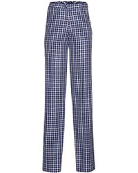 Rahul Mishra - Madras Checked High Rise Cotton Trousers - Lyst