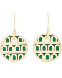 Davidor L'arc 18k Gold Earrings - Green